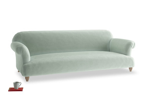 Extra large Soufflé Sofa in Mint clever velvet