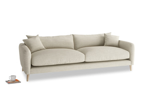 Large Squishmeister Sofa in Shell Clever Laundered Linen