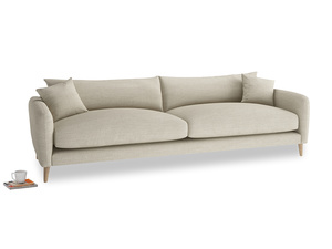 Extra large Squishmeister Sofa in Shell Clever Laundered Linen