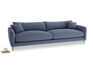 Extra large Squishmeister Sofa in Breton blue clever cotton