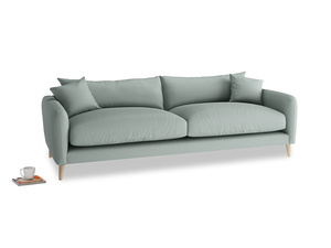 Large Squishmeister Sofa in Sea fog Clever Woolly Fabric