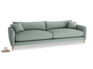 Extra large Squishmeister Sofa in Sea fog Clever Woolly Fabric