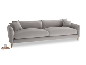 Extra large Squishmeister Sofa in Mouse grey Clever Deep Velvet