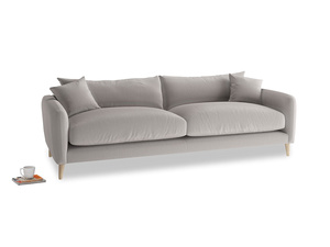 Large Squishmeister Sofa in Mouse grey Clever Deep Velvet