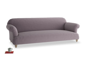 Extra large Soufflé Sofa in Lavender brushed cotton