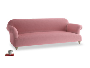 Extra large Soufflé Sofa in Dusty Rose clever velvet