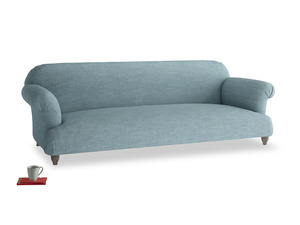Extra large Soufflé Sofa in Soft Blue Clever Laundered Linen