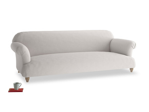 Extra large Soufflé Sofa in Lunar Grey washed cotton linen