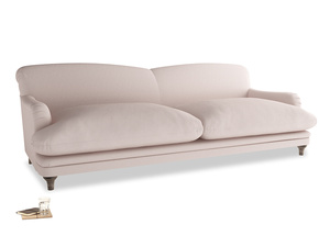 Extra large Pudding Sofa in Faded Pink brushed cotton
