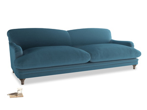 Extra large Pudding Sofa in Old blue Clever Deep Velvet