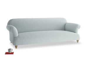 Extra large Soufflé Sofa in Duck Egg vintage linen
