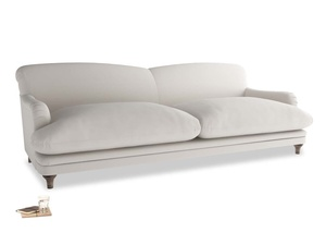 Extra large Pudding Sofa in Chalk clever cotton