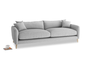Large Squishmeister Sofa in Mist cotton mix