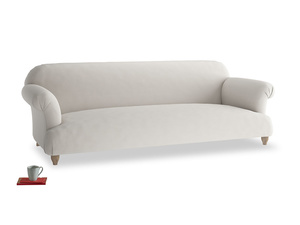 Extra large Soufflé Sofa in Moondust grey clever cotton