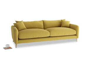 Large Squishmeister Sofa in Maize yellow Brushed Cotton