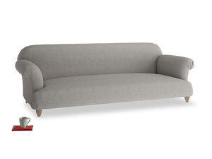 Extra large Soufflé Sofa in Marl grey clever woolly fabric