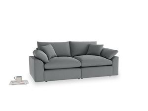 Medium Cuddlemuffin Modular sofa in Cornish Grey Bamboo Softie