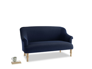 Medium Sweetie Sofa in Indian Blue Clever Cord