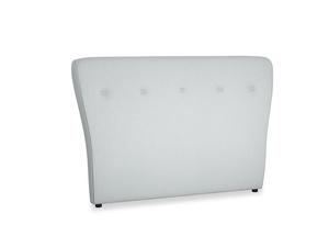Double Smoke Headboard in Gull Grey Bamboo Softie