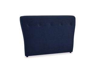 Double Smoke Headboard in Indian Blue Clever Cord