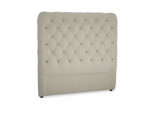 Double Tall Billow Headboard in Blighty Grey Clever Cord