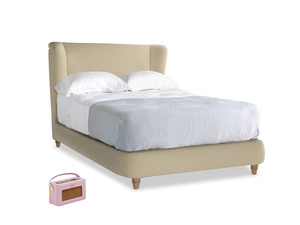 Double Hugger Bed in Hopsack Bamboo Softie