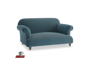 Small Soufflé Sofa in Lovely Blue Clever Cord