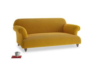 Medium Soufflé Sofa in Saffron Yellow Clever Cord