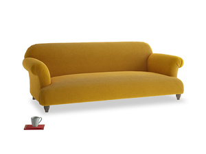 Large Soufflé Sofa in Saffron Yellow Clever Cord