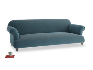 Extra large Soufflé Sofa in Lovely Blue Clever Cord