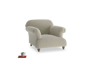 Soufflé Armchair in Blighty Grey Clever Cord