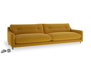 Extra large Slim Jim Sofa in Saffron Yellow Clever Cord
