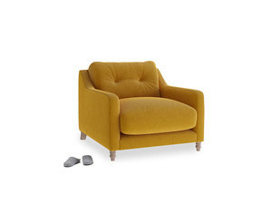 Slim Jim Armchair in Saffron Yellow Clever Cord