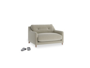 Slim Jim Love seat in Blighty Grey Clever Cord
