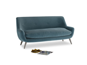 Medium Berlin Sofa in Lovely Blue Clever Cord