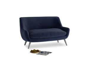 Small Berlin Sofa in Indian Blue Clever Cord