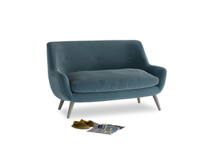 Small Berlin Sofa in Lovely Blue Clever Cord