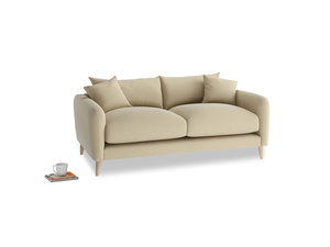 Small Squishmeister Sofa in Hopsack Bamboo Softie