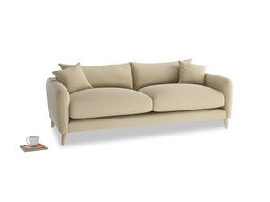Medium Squishmeister Sofa in Hopsack Bamboo Softie