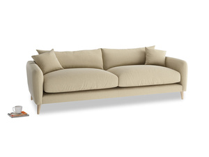 Large Squishmeister Sofa in Hopsack Bamboo Softie