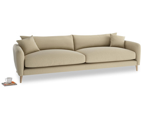 Extra large Squishmeister Sofa in Hopsack Bamboo Softie