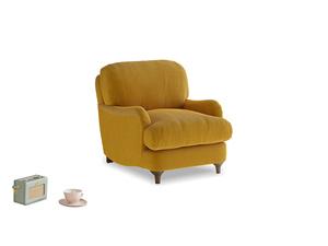 Jonesy Armchair in Saffron Yellow Clever Cord