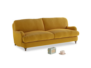 Medium Jonesy Sofa in Saffron Yellow Clever Cord