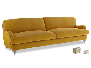 Extra large Jonesy Sofa in Saffron Yellow Clever Cord