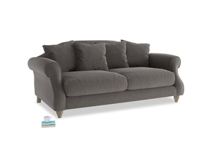 Medium Sloucher Sofa in Everyday Grey Clever Cord