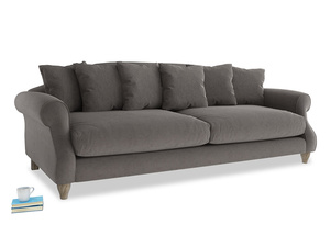 Extra large Sloucher Sofa in Everyday Grey Clever Cord
