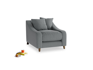 Oscar Armchair in Cornish Grey Bamboo Softie