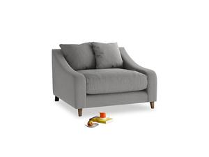 Oscar Love seat in Cloudburst Bamboo Softie