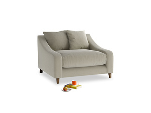 Oscar Love seat in Blighty Grey Clever Cord