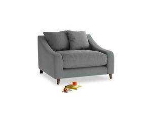 Oscar Love seat in Cornish Grey Bamboo Softie